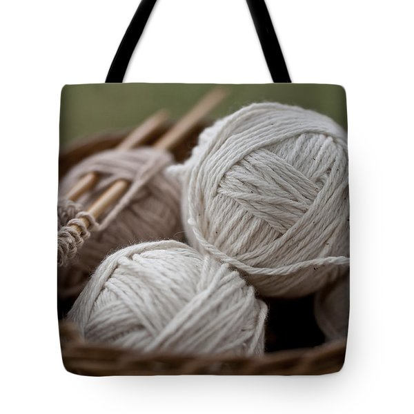 Basket Of Yarn Tote Bag