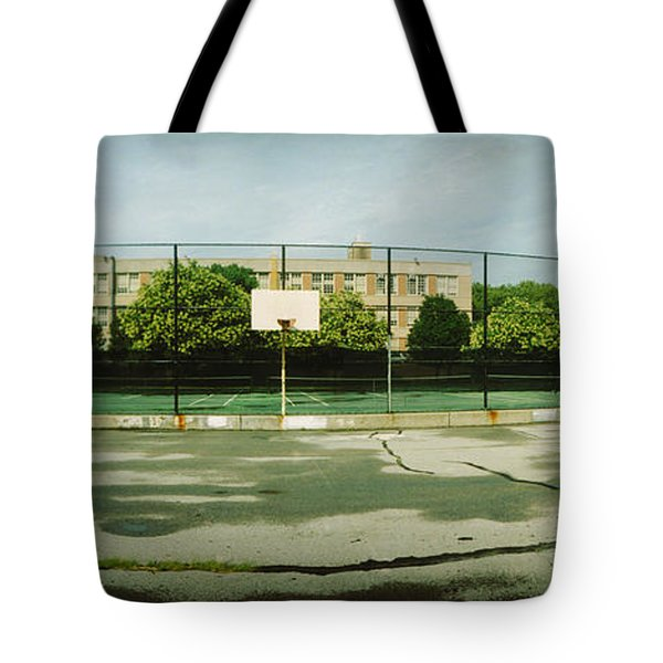 Basketball Court In A Public Park Tote Bag