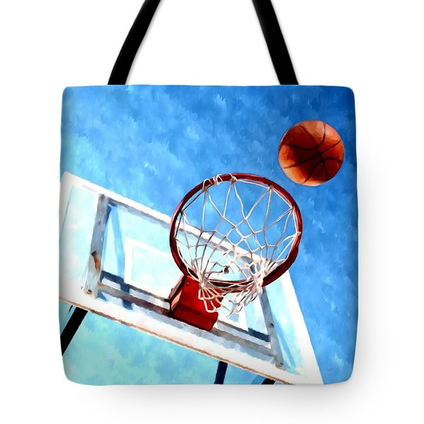 Basketball Hoop And Ball 1 Tote Bag by Lanjee Chee