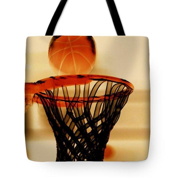 Basketball Hoop And Basketball Ball 1 Tote Bag by Lanjee Chee