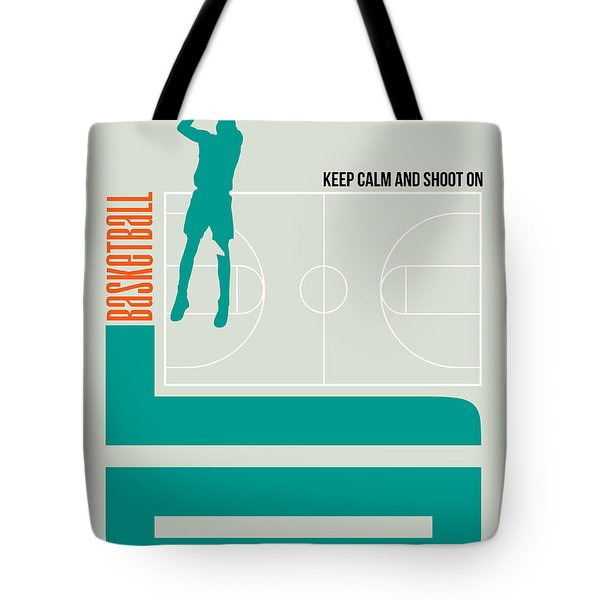 Basketball Poster Tote Bag by Naxart Studio
