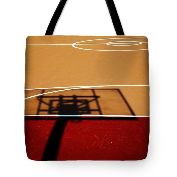 Basketball Shadows Tote Bag by Karol Livote