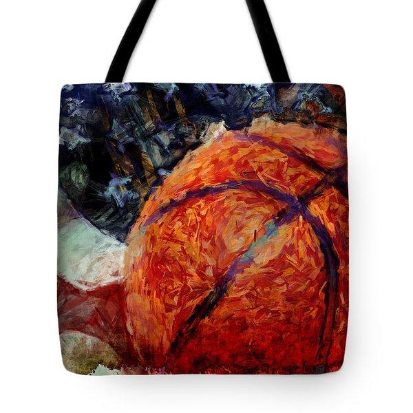 Basketball Usa Tote Bag by David G Paul