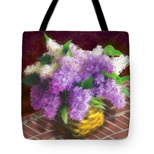 Basketful Of Lilacs Tote Bag