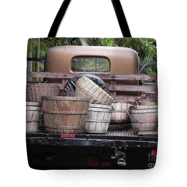 Baskets Of Feed Tote Bag by Chrisann Ellis