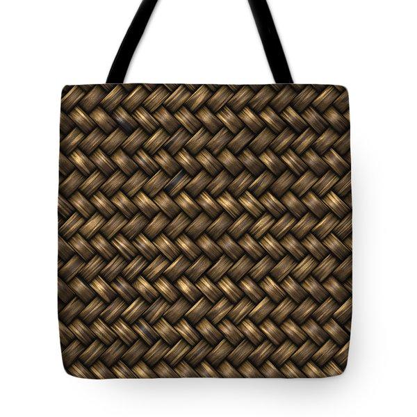Basketweave Pattern Tote Bag