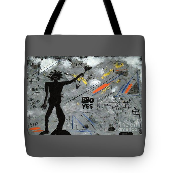 Basquiat Rest In Peace - Tribute Number 7 Tote Bag by Scott Haley