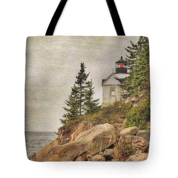 Bass Harbor Head Lighthouse. Acadia National Park Tote Bag