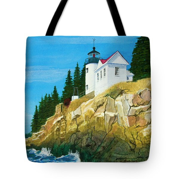 Bass Harbor Lighthouse Tote Bag by Mike Robles