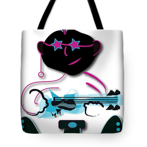 Tote Bag featuring the digital art Bass Man by Marvin Blaine