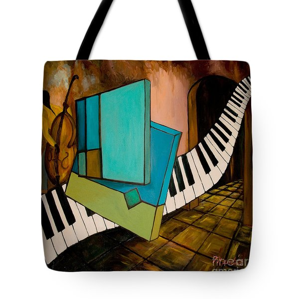 Bass Solo Tote Bag by Larry Martin