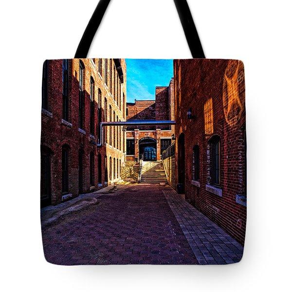 Bates Mill Lewiston Maine Tote Bag by Bob Orsillo