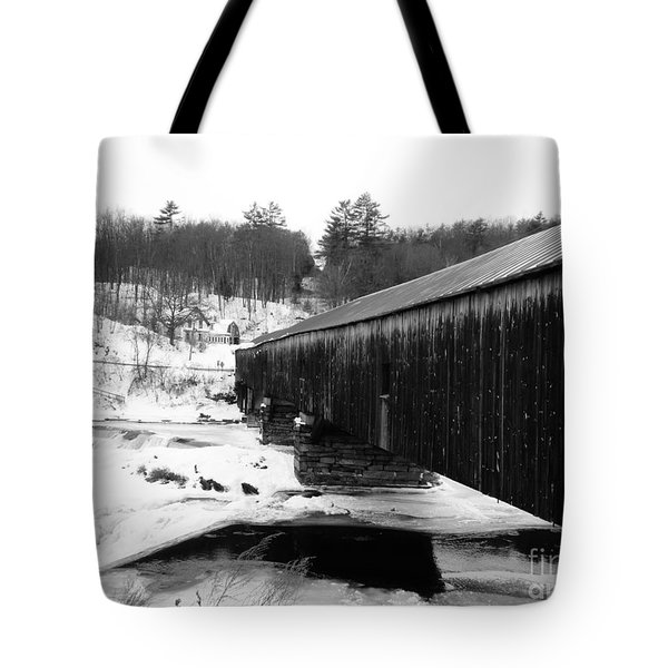 Bath Covered Bridge Tote Bag