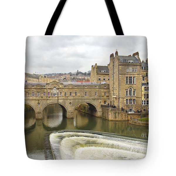 Bath England Spillway Tote Bag by Mike McGlothlen