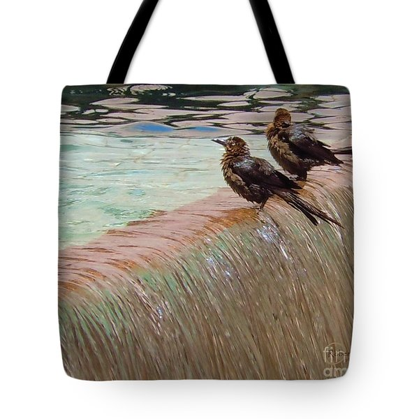 Tote Bag featuring the photograph Bath Time At The Adolphus by Robert ONeil