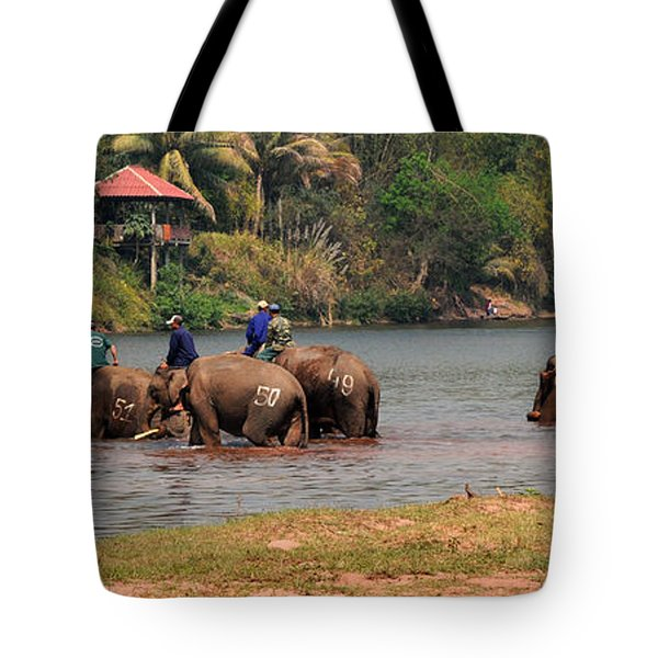 Tote Bag featuring the photograph Bath Time by Vivian Christopher