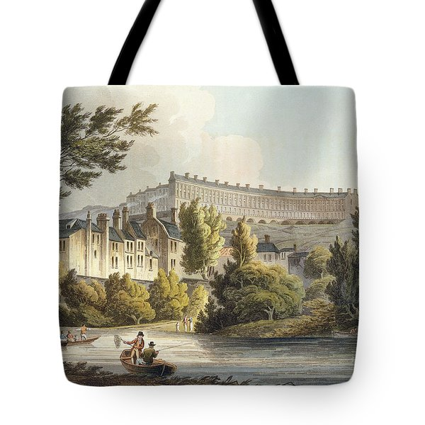 Bath Wick Ferry, From Bath Illustrated Tote Bag by John Claude Nattes