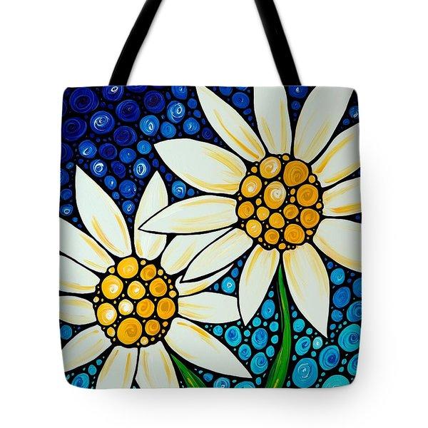 Bathing Beauties - Daisy Art By Sharon Cummings Tote Bag