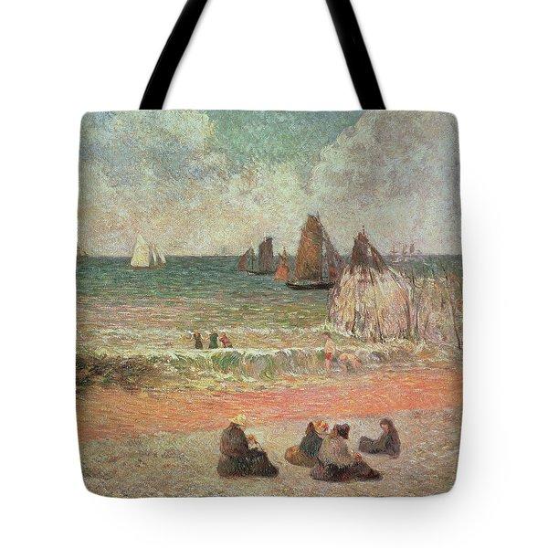 Bathing Dieppe Tote Bag by Paul Gauguin