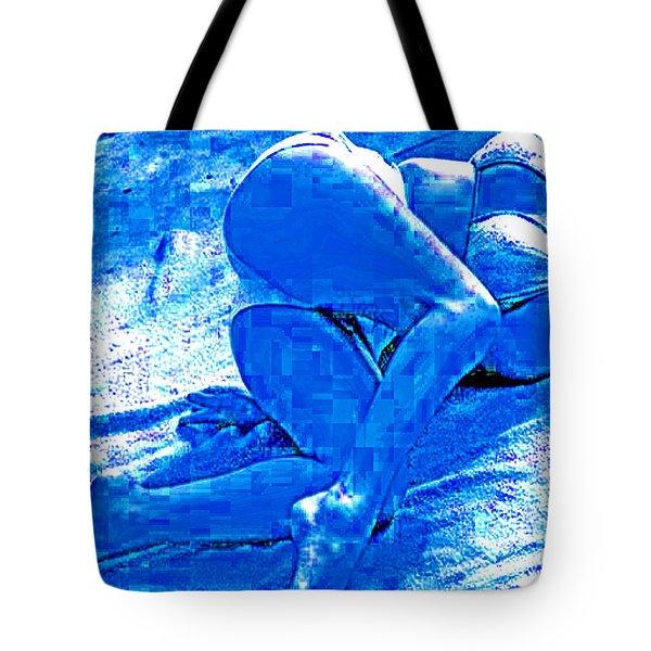 Bathing In Blu Light Tote Bag