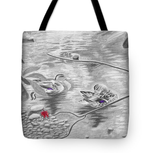 Bathing In The River Tote Bag