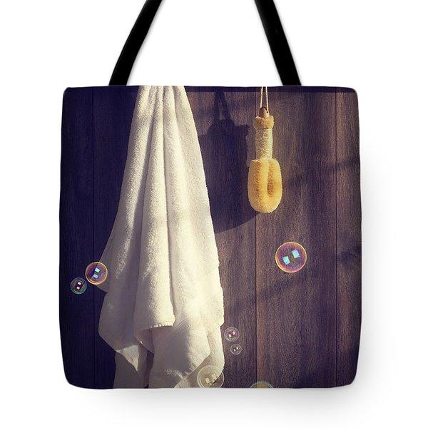 Bathroom Towel Tote Bag by Amanda Elwell