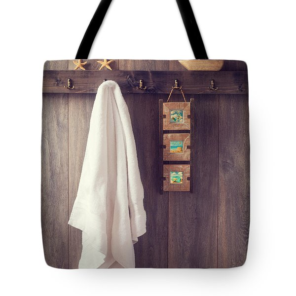 Bathroom Wall Tote Bag by Amanda Elwell