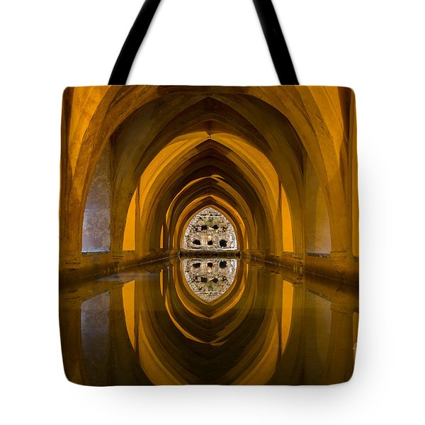 Baths Of Lady Maria De Padilla Tote Bag by Simona Ghidini