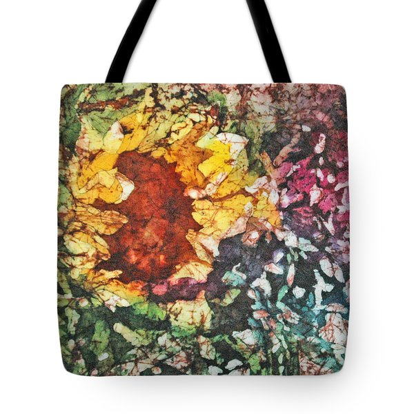 Tote Bag featuring the painting Sunflower Surprise by Diane Fujimoto