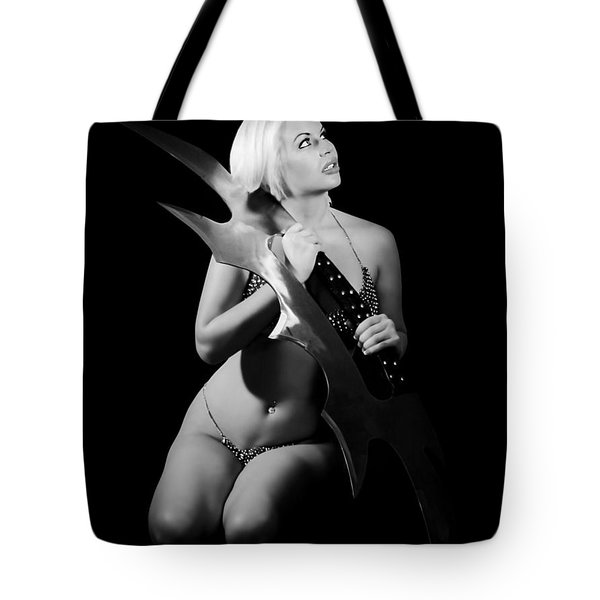 Batlif Black And White Tote Bag