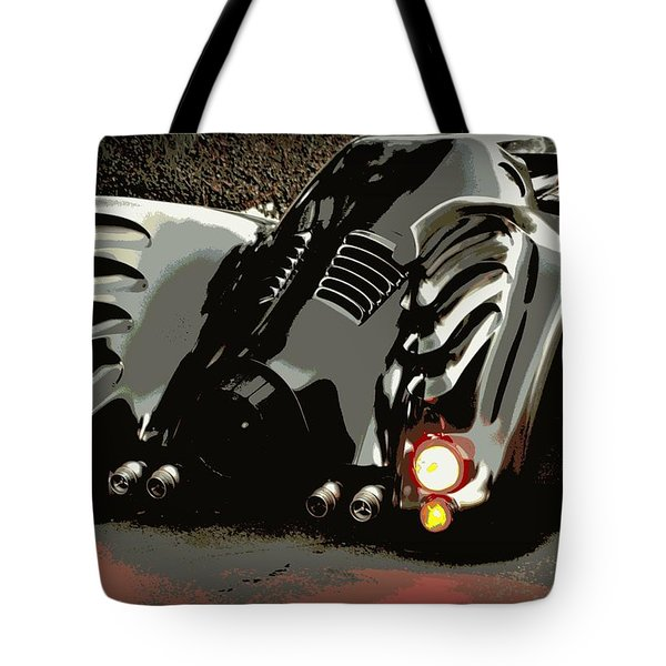 Batmobile 2 Tote Bag by Cathy Smith