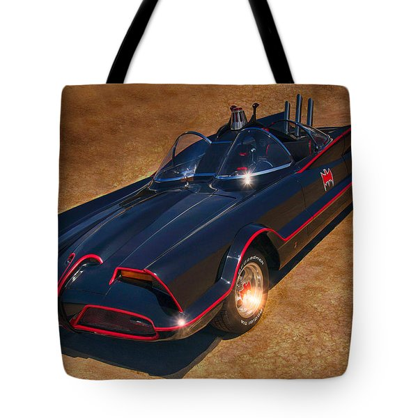Batmobile Tote Bag by Tommy Anderson