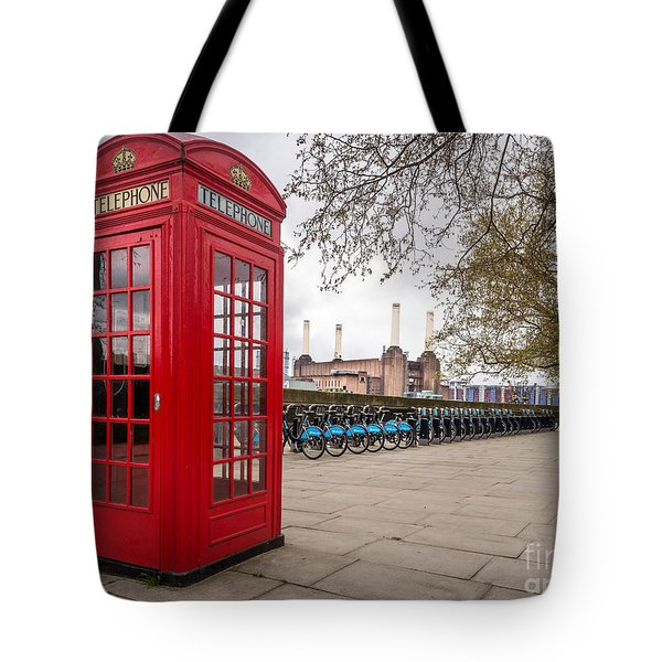 Battersea Phone Box Tote Bag by Matt Malloy