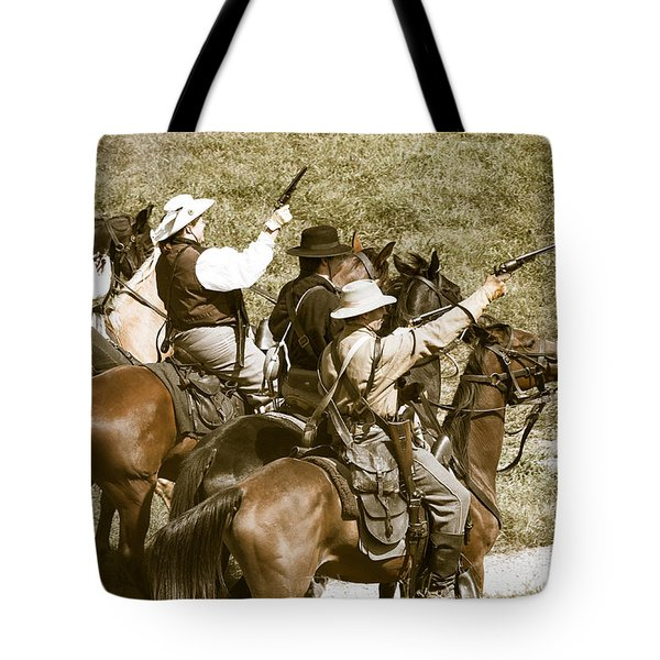 Battle Charge Tote Bag by Steven Bateson