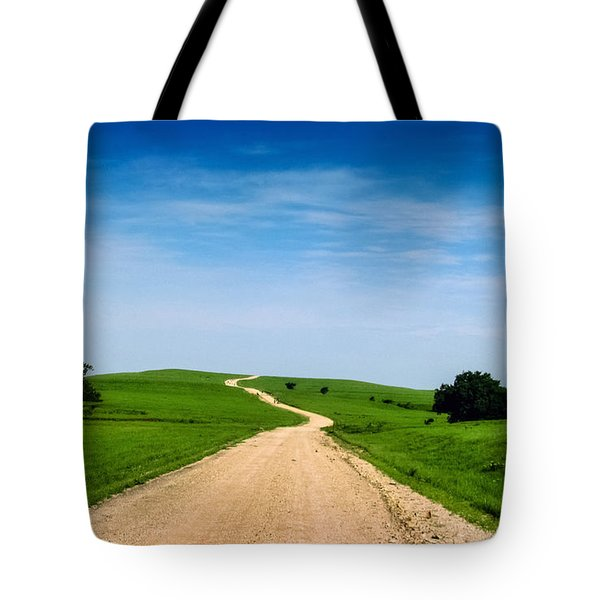 Battle Creek Road From The Saddle Tote Bag