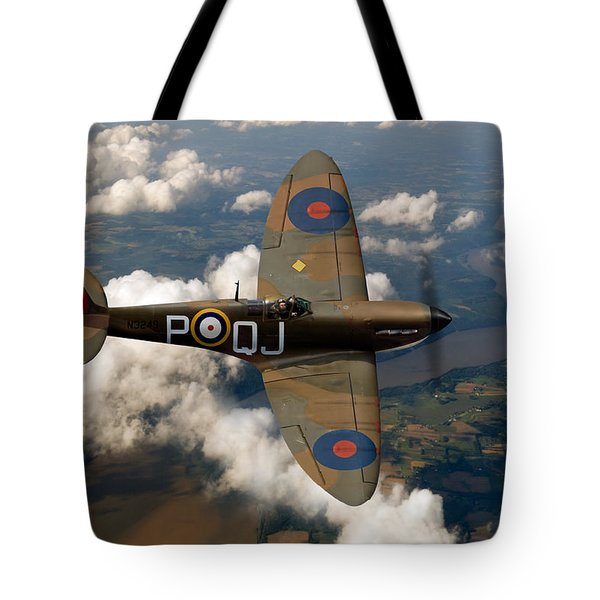 Battle Of Britain Spitfire Tote Bag by Gary Eason
