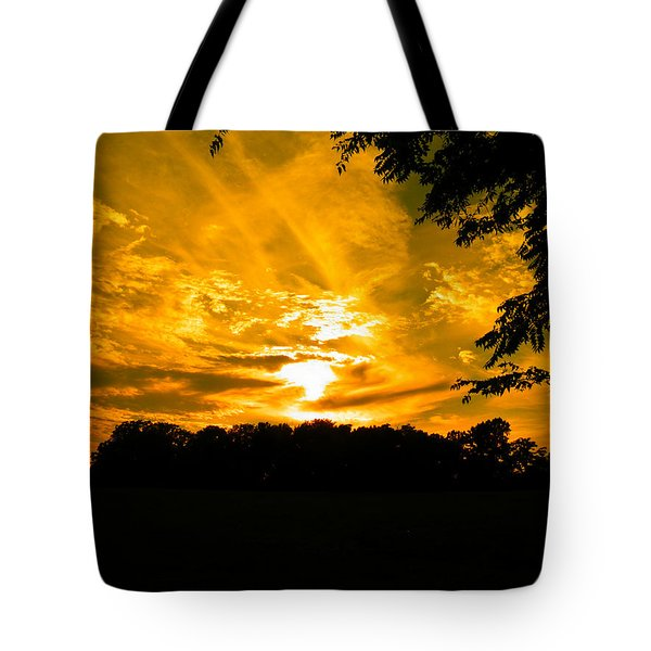Battle Of The Clouds Tote Bag