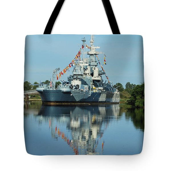 Battleship Reflections Tote Bag