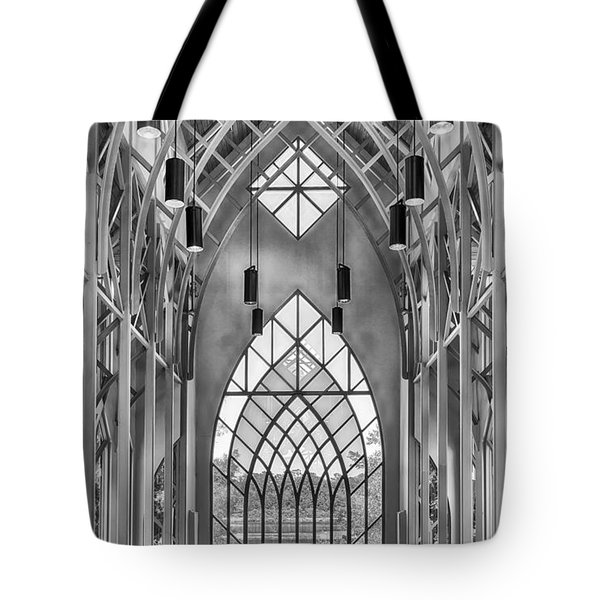 Tote Bag featuring the photograph Baughman Meditation Center by Howard Salmon