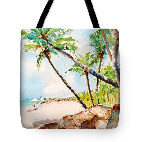 Bavaro Tropical Sandy Beach Tote Bag