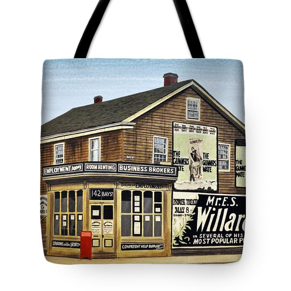 Tote Bag featuring the painting Bay And Adelaide Streets 1910 by Kenneth M  Kirsch