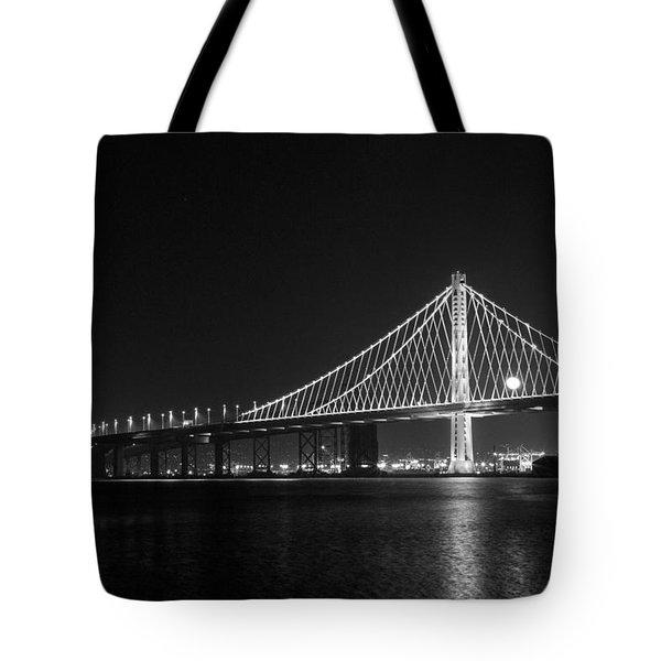 Bay Bridge Moon Tote Bag