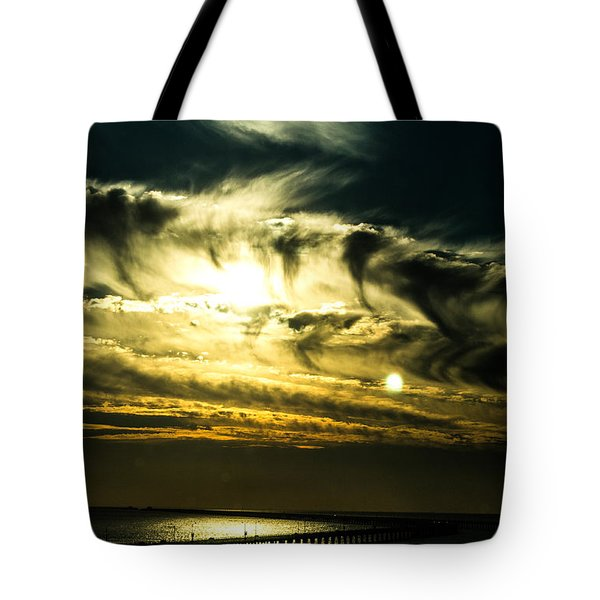 Bay Bridge Sunset Tote Bag