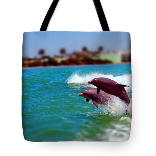 Bay Dolphins Tote Bag