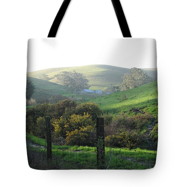 Tote Bag featuring the drawing Bay Hill Road by Dianne Levy