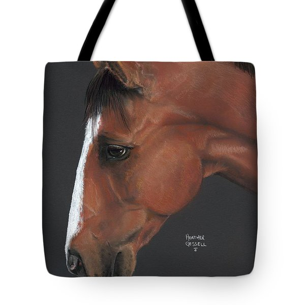 Bay Horse  Tote Bag by Heather Gessell
