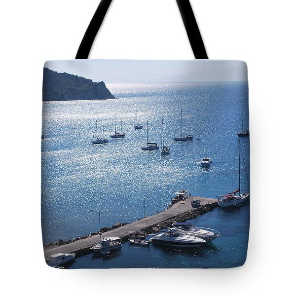 Tote Bag featuring the photograph Bay Of Porto by George Katechis