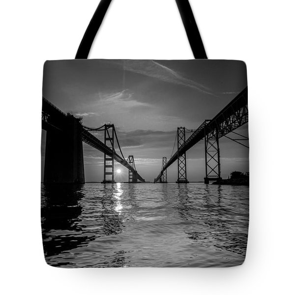 Tote Bag featuring the photograph Bay Bridge Strength by Jennifer Casey