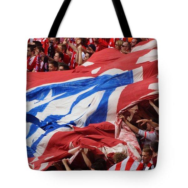 Bayern Munich Fans Tote Bag by Rudi Prott