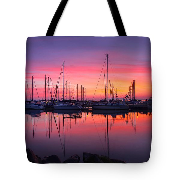 Bayfield Wisconsin Magical Morning Sunrise Tote Bag
